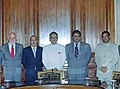 A Pakistani delegation led by the Interior Secretary of Pakistan, Mr. Syed Kamal Shah with the Union Home Minister, Shri Shivraj Patil in New Delhi on August 29, 2005.jpg