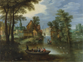 A RIVER LANDSCAPE WITH THE FLIGHT INTO EGYPT.PNG