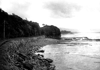 Illawarra - A section of the Illawarra coastline, circa 1900