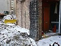 A small building left during construction, Yonge and Bloor, 2018 01 31 -a (28241350659).jpg