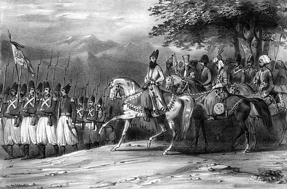Abbas Mirza in battle