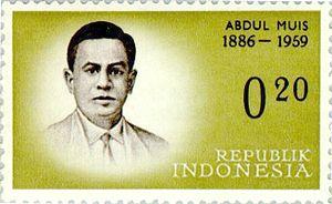 Abdul Muis - Image: Abdul Muis 1961 Indonesia stamp