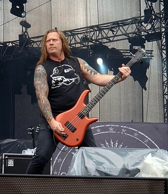 Adam Duce - Adam Duce with Machine Head at Sonisphere Festival in Kirjurinluoto, Pori, Finland, 2009.