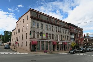 National Register of Historic Places listings in Penobscot County, Maine - Image: Adams Pickering Block, Bangor ME