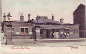 Addiscombe railway station - Image: Addiscombe railway station