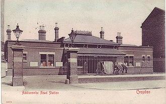 Addiscombe railway station - Image: Addiscombe railway station