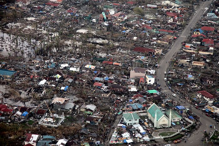 Aerial image of destroyed houses in Tacloban, following Typhoon Haiyan Aerial view of Tacloban after Typhoon Haiyan.jpg