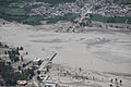 Aerial view of damage caused by flooding in Pakistan.JPG
