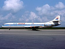 Super Caravelle SE-210 from extinted France Company Air Inter 1980