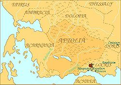 Map of ancient Aetolia