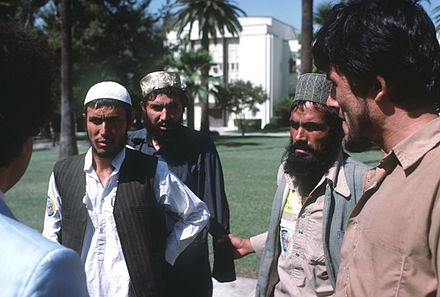 Afghan guerrillas that were chosen to receive medical treatment in the United States, Norton Air Force Base, California, 1986 AfghanGuerillainUS1986e.JPEG