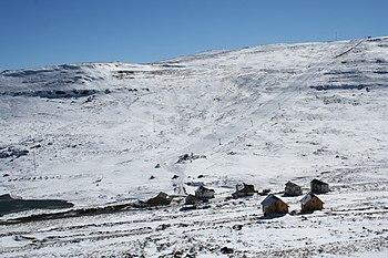 The Afri-Ski resort in the Maloti Mountains of...