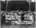 African American children with a few adults in a pavilion LCCN99472384.tif