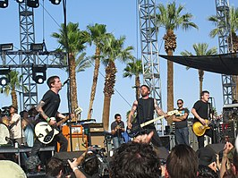 Against Me! op het Coachella Festival in 2007.