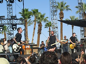 Against Me! playing at the 2007 Coachella Vall...
