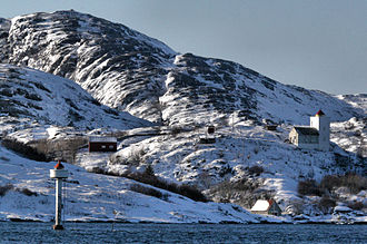 Agdenes - View of the lighthouse in the Trondheimsfjord
