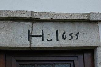 Ahetze - Image: Ahetze Linteau 1655