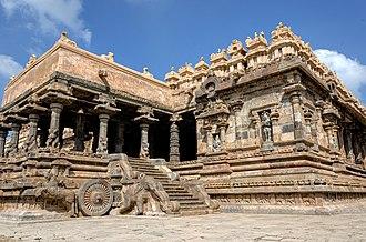 Architecture of Tamil Nadu - Airavatesvara Temple Chariot, Chola architecture