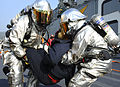 Aircraft fire drill aboard USS Bonhomme Richard 141230-N-LM312-050.jpg