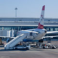Airport Sofia LBSF taxi to RWY 27 view to right wing 2012 PD 02.jpg
