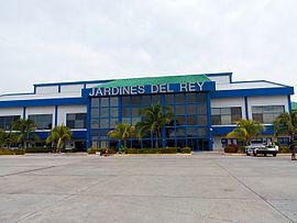 Airside view of Jardines del Rey Airport terminal, June 2014.jpg