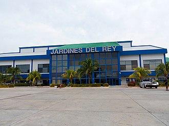 Jardines del Rey Airport - Image: Airside view of Jardines del Rey Airport terminal, June 2014