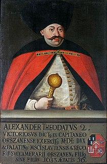 Alaksandar Dažboh Sapieha. Аляксандар Дажбог Сапега (1709).jpg