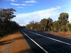 Albany Highway - Albany Highway facing south near Tunney