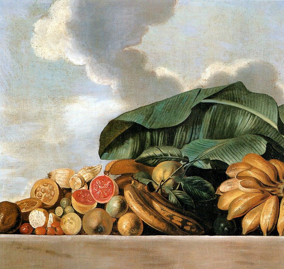 Albert Eckhout - Bananas, goiaba e outras frutas