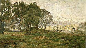 Alberto Valenzuela Llanos - Paisaje de Lo Contador (Lo Contador Landscape, Chile)