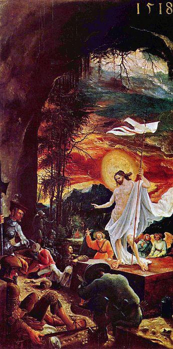 La résurrection de Jésus-Christ par Altdorfer.