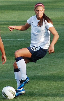 Alex Morgan training 2012.jpg