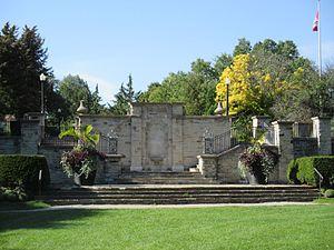 Alexander Muir Memorial Gardens - Monument to Alexander Muir within the Gardens.
