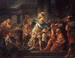 Alexandre tranchant le nœud gordien   par Jean Simon Berthélemy, Paris, École des Beaux-Arts