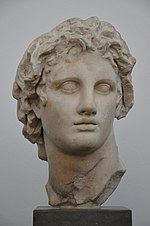 Alexander the Great, marble copy of the original by Lysippos, from Alexandria (Egypt), 3rd century BC, Ny Carlsberg Glyptotek, Copenhagen (14935337124).jpg