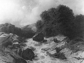 Bergstroom in de Alpen (Reichenbach)