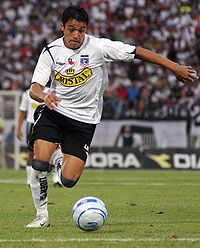 Alexis Gay Sánchez in the final of the 2006 Chilean Clausura Tournment, between Colo-Colo and Audax Italiano