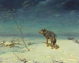 Alfred Wierusz-Kowalski - Samotny wilk.jpg