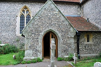 St Andrew's Church, Alfriston - Image: Alfriston East Sussex St Andrew's church Canonical sundial b