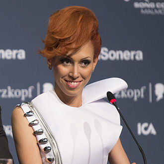 Aliona Moon - Aliona Moon during a Eurovision 2013 press conference