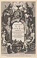 Allegorische titelpagina met stenen boog met een medaillonportret van Justus Lipsius Titelpagina voor J. Lipsius, Opera omnia, Antwerpen 1637, RP-P-OB-6956.jpg
