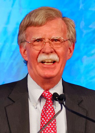 Formation of Donald Trump's Cabinet - Image: Ambassador John Bolton at the Southern Republican Leadership Conference (cropped)