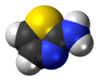 Space-filling model of the aminothiazole molecule