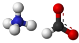 Ball-and-stick model of ammonium formate