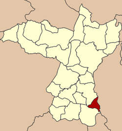 District location in Khon Kaen Province