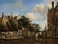 Amsterdams stadsgezicht met huizen aan de Herengracht en de oude Haarlemmersluis Rijksmuseum SK-A-154.jpeg