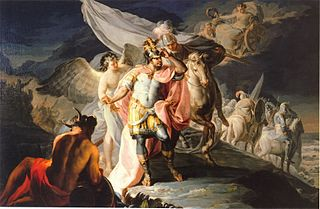 Hannibal vainqueur contemple pour la première fois l'Italie depuis les Alpes