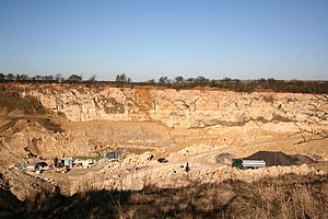 Ancaster stone - One of the quarries