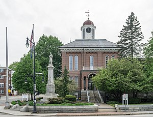 Androscoggin County Courthouse and Jail - Androscoggin County Courthouse in 2017