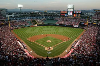English: Angel Stadium of Anaheim, home of the...